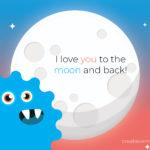 Creatieve Monsters Maanmonsterkaart